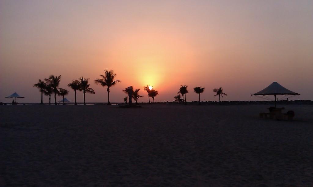 Dubai, zalazak sunca